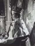 Queen Elizabeth II in Coronation Robes  England  c1953