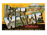 Greetings from Ft Wayne  Indiana