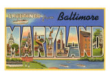 Greetings from Baltimore  Maryland