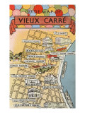 Map of Vieux Carre  New Orleans  Louisiana