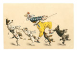 Clown with Dancing Dogs