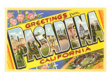 Greetings from Pasadena  California