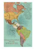 Map of the Americans  Opening of the Panama Canal