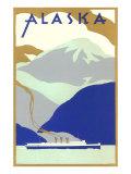 Alaskan Scene  Poster Style