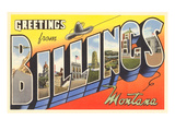 Greetings from Billings  Montana