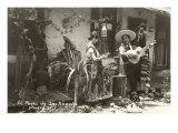 Native Mexicans  Olvera Street  Los Angeles  California