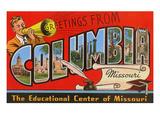 Greetings from Columbia  Missouri
