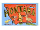 Greetings from Montana  Map