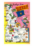 Greetings from Idaho  Map of Highlights
