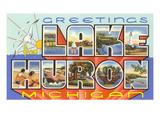 Greetings from Lake Huron  Michigan