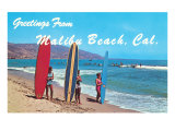 Greetings from Malibu Beach  California  Surfers