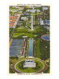 Aerial View  Reflecting Pool  Mall  Washington  DC