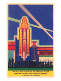 Art Deco Entrance  Chicago World&#39;s Fair