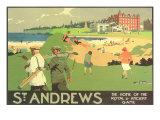 Le golf de l'Hôtel St Andrews Reproduction d'art