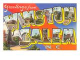 Greetings from Winston-Salem  North Carolina