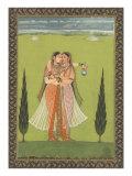 Persian Miniature Lovers Embracing