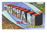 Greetings from Durham  North Carolina