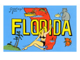 Greetings from Florida  Map