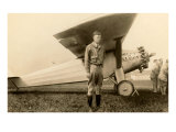 Charles Lindbergh and Plane