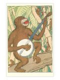 Chimp Playing Banjo