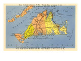 Map of Martha's Vineyard  Massachusetts