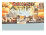 Postcard Folder  Vancouver  British Columbia