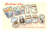 Greetings from White Sands  New Mexico