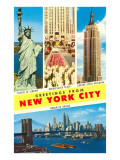 Greetings From New York City with City Scenes