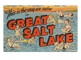 Greetings from Great Salt Lake  Utah