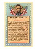 Lincoln with Text of Gettysburg Address