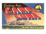 Greetings from Camp Luna  Las Vegas  New Mexico