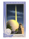 Greetings from New York World's Fair  Trylon and Perisphere