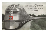 Texas Zephyr  Streamlined Train