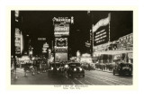 Night View of Broadway  New York City  Photo