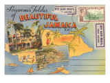 Postcard Folder  Beautiful Jamaica