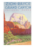 Poster  Zion  Bryce  Grand Canyon  National Parks