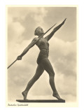 German Female Athlete  with Javelin