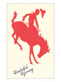 Wonderful Wyoming  Silhouette of Bronco Rider