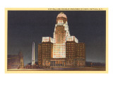 Night  City Hall  Buffalo  New York