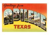 Greetings from Abilene  Texas