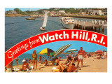 Greetings from Watch Hill  Rhode Island