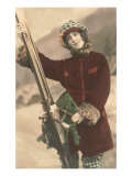 Lady with Skis