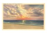 Sunrise over Ocean  Long Beach Island  New Jersey