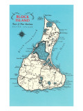 Map of Block Island  Rhode Island