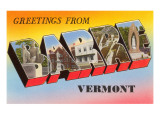 Greetings from Barre  Vermont