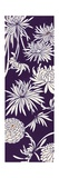 Vertical Chrysanthemum Print in Purple
