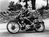 Stanley Woods on Moto Guzzi in 1935 Isle of Man  Senior TT Race