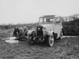 1931 Triumph Scorpion with Ladies Enjoying a Picnic