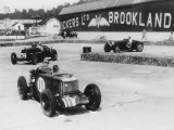 MG  Alfa Romeo  and Bugatti in British Empire Trophy Race at Brooklands  1935
