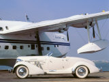 1935 Auburn 851 Speedster with Sunderland flying boat